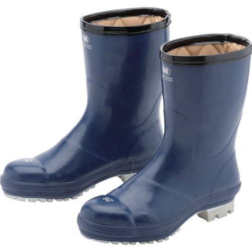 ミドリ安全 氷上で滑りにくい防寒安全長靴 ネイビー 25.0cm FBH01-NV-25.0