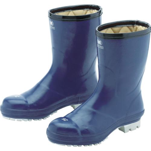 ミドリ安全 氷上で滑りにくい防寒安全長靴 ネイビー 26.0cm FBH01-NV-26.0