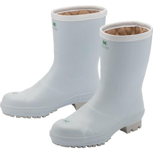 ミドリ安全 氷上で滑りにくい防寒安全長靴 ホワイト 25.0cm FBH01-W-25.0