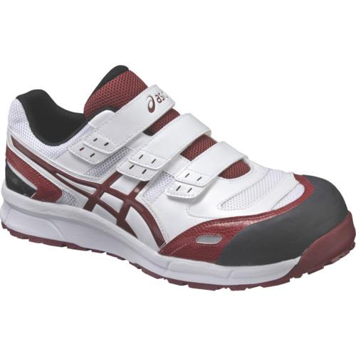 アシックス 作業靴 ウインジョブCP102 ホワイトXバーガンデ 24.5cm FCP102.0126-24.5