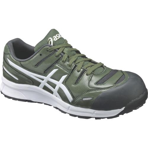 アシックス 作業靴 ウインジョブCP103 グリーンXホワイト 23.5cm FCP103.7901-23.5