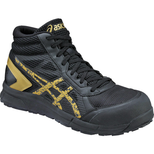 ASICS(アシックス) 作業靴 ウィンジョブCP104 ブラックXゴールド 22.5cm FCP104.9094-22.5