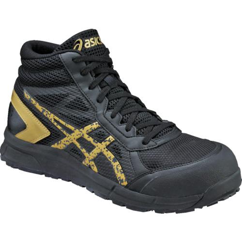 ASICS(アシックス) 作業靴 ウィンジョブCP104 ブラックXゴールド 25.5cm FCP104.9094-25.5