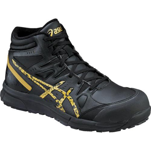 ASICS(アシックス) 作業靴 ウィンジョブCP105 ブラックXゴールド 25.0cm FCP105.9094-25.0