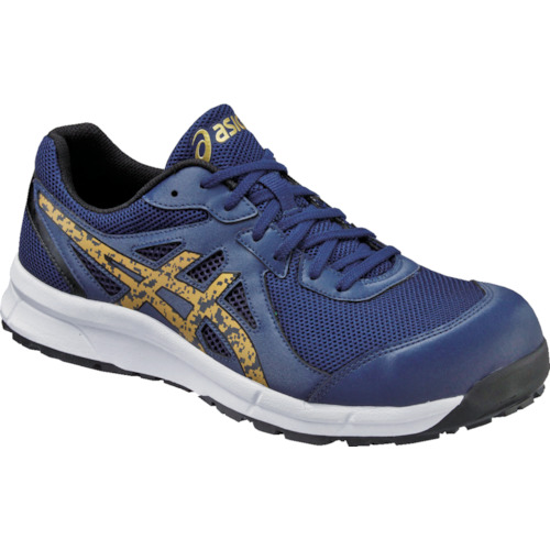 ASICS(アシックス) 作業靴 ウィンジョブCP106 インディゴXゴールド 26.5cm FCP106.4994-26.5