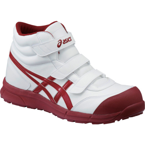 ASICS(アシックス) 作業靴 ウィンジョブ CP302 ホワイト×バーガンディ 27.0cm FCP302.0126-27.0