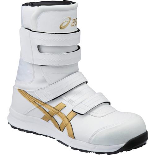 ASICS(アシックス) 作業靴 ウィンジョブ CP401 ホワイト×ゴールド 25.0cm FCP401.0194-25.0