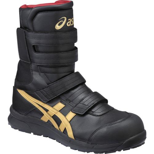 ASICS(アシックス) 作業靴 ウィンジョブ CP401 ブラック×ゴールド 24.0cm FCP401.9094-24.0