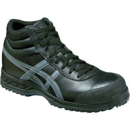 アシックス 安全靴 ウィンジョブ71S ブラックXガンメタリック 22.5cm FFR71S.9075-22.5