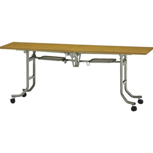 【直送】【代引不可】TRUSCO(トラスコ) フライトテーブル 1800X450XH700 チーク FLT-1845