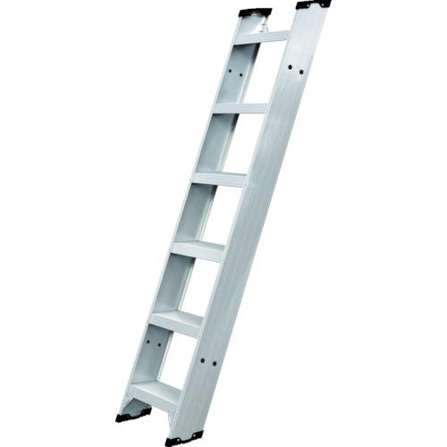 【直送】【代引不可】ハセガワ(長谷川工業) アルミ製 踏ざん幅広1連はしご FLW2.0型 2.7m FLW2.0-270