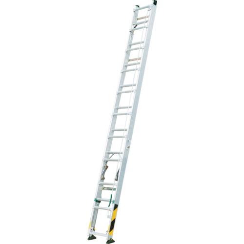 【直送】【代引不可】ナカオ 脚伸縮式2漣はしご ピッチ 全長6.1m FU-61