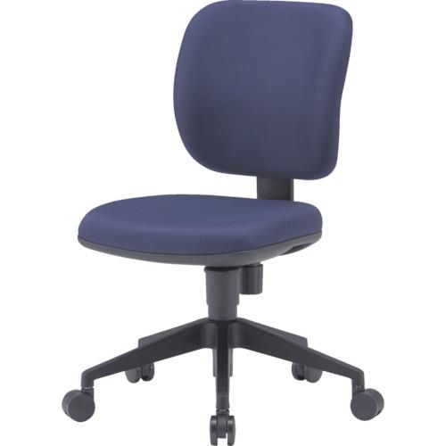 TRUSCO(トラスコ) オフィスチェア 布張り ブルー FZ-3-BL