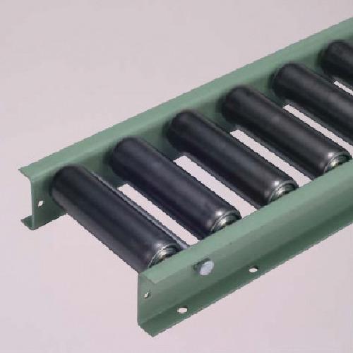 【直送】【代引不可】太陽工業 G6032型スチールローラコンベヤ W300XP75X90゚カーブ G6032-300-75-90R