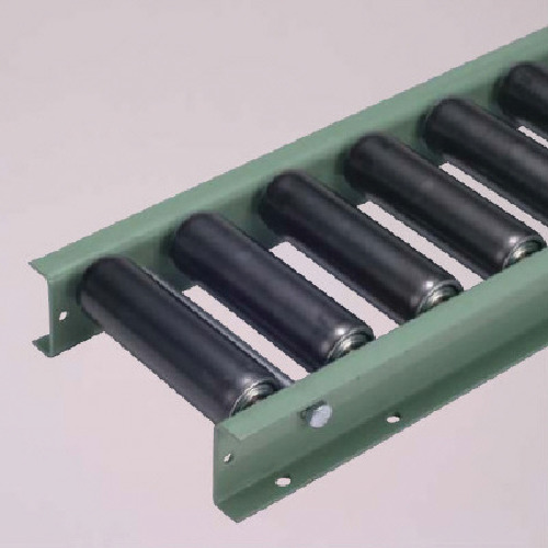 【直送】【代引不可】太陽工業 G6032型スチールローラコンベヤ W600XP75X90゚カーブ G6032-600-75-90R