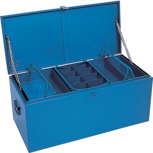 【直送】【代引不可】リングスター 大型車載用工具箱 910X420X390 ブルー GT-9100-B