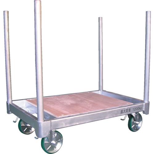 【直送】【代引不可】神戸車輌 スチール製平床運搬台車 天板ベニヤタイプ H1280DC