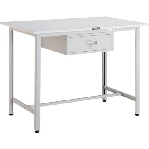 【直送】【代引不可】TRUSCO(トラスコ) AE型軽量立作業台 ポリ化粧天板 900X600X900 引出1段 ホワイト HAE-0960F1 W