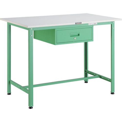 【直送】【代引不可】TRUSCO(トラスコ) AE型軽量立作業台 ポリ化粧天板 900X600X900 1段引出付 若緑色 HAE-0960F1 YG