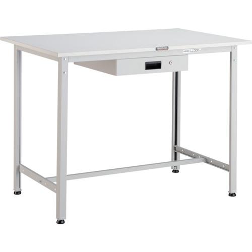 【直送】【代引不可】TRUSCO(トラスコ) AE型軽量立作業台 ポリ化粧天板 900X600X900 薄型引出1段 ホワイト HAE-0960UDK1 W