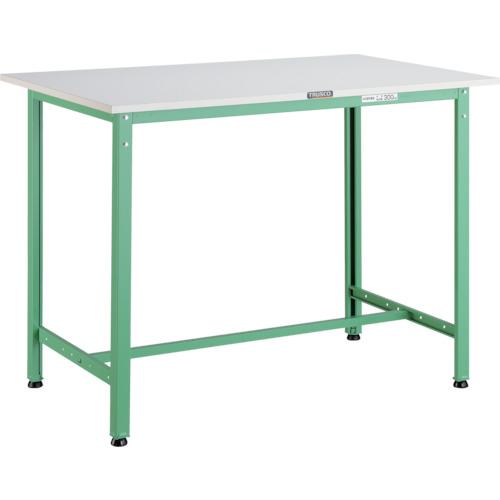 【直送】【代引不可】TRUSCO(トラスコ) AE型軽量立作業台 ポリ化粧天板 900X600X900 若緑色 HAE-0960 YG