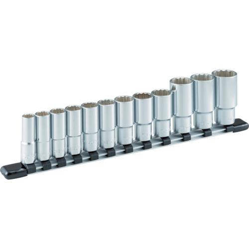 TONE(トネ) ディープソケットセット(12角・ホルダー付) 12点組 9.5sq. HDL312A