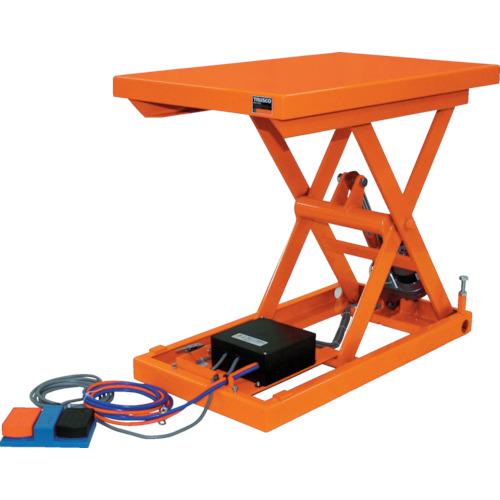 【直送】【代引不可】TRUSCO(トラスコ) テーブルリフト100kg 電動Bねじ式DC24V 400×650 HDL-H1046V-D2