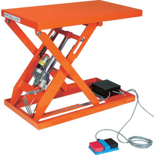 【直送】【代引不可】TRUSCO(トラスコ) テーブルリフト 100kg 電動Bねじ式 100V 500X650mm HDL-H1056V-12