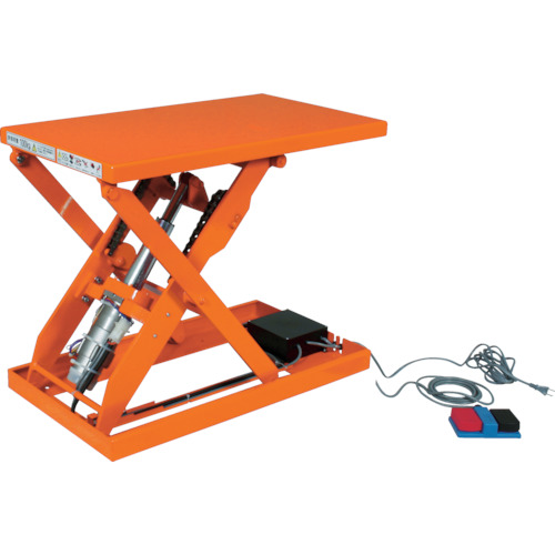 【直送】【代引不可】TRUSCO(トラスコ) テーブルリフト IPMリフター 150kg 電動式 520X630mm HDL-L1556PJ
