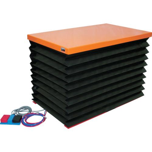 【直送】【代引不可】TRUSCO(トラスコ) テーブルリフト150kg電動BねじDC24V蛇腹付520×630 HDL-L1556VJ-D2
