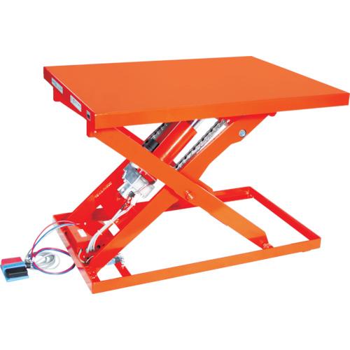 【直送】【代引不可】TRUSCO(トラスコ) テーブルリフト500kg 電動BねじDC24V 650×1200 HDL-L50612V-D2