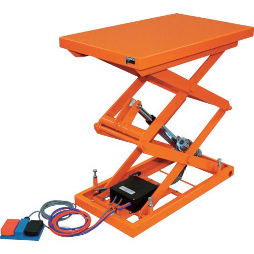 【直送】【代引不可】TRUSCO(トラスコ) テーブルリフト100kg 電動Bねじ式DC24V 520×850 HDL-W1058V-D2