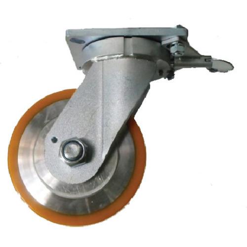 ヨドノ 超重量用キャスター 高硬度ウレタン自在車旋回ロック付 1500kg用 HDUJ150TL