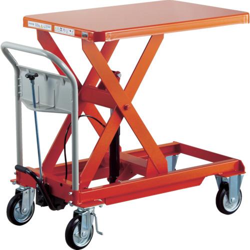 【直送】【代引不可】TRUSCO(トラスコ) ハンドリフター 1000kg 900X900 早送り付 オレンジ HLF-E1000W