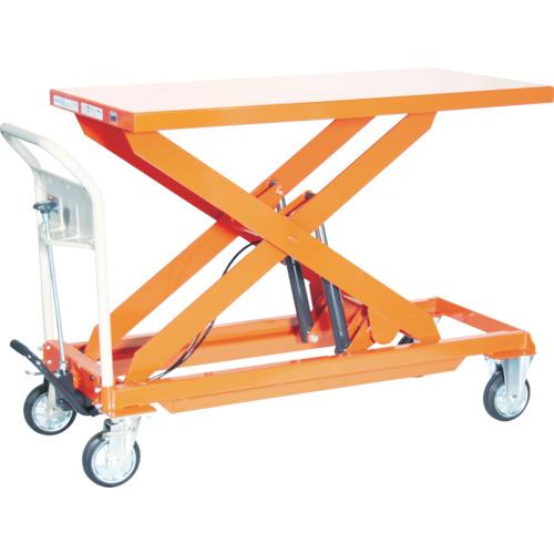 【直送】【代引不可】TRUSCO(トラスコ) ハンドリフター 500kg 600X1200 早送り付 オレンジ HLF-E500L