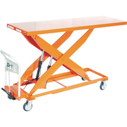 【直送】【代引不可】TRUSCO(トラスコ) ハンドリフター 500kg 600X1800 早送り付 オレンジ HLF-E500L-18