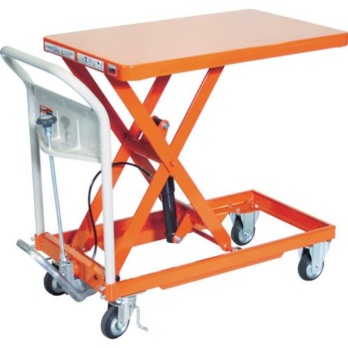 【直送】【代引不可】TRUSCO(トラスコ) ハンドリフター 250kg 500X800 オレンジ HLF-S250