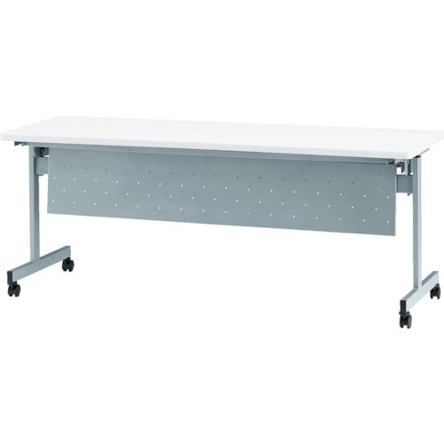 【直送】【代引不可】TOKIO(藤沢工業) 天板跳上式スタックテーブル(パネル付) 1800X450XH720 ホワイト HSN-1845P-W