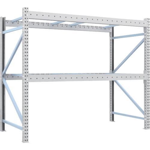 【直送】【代引不可】TRUSCO(トラスコ) 重量パレット棚 1トン用 2300X1100XH2000 単体 1D-20B23-11-2