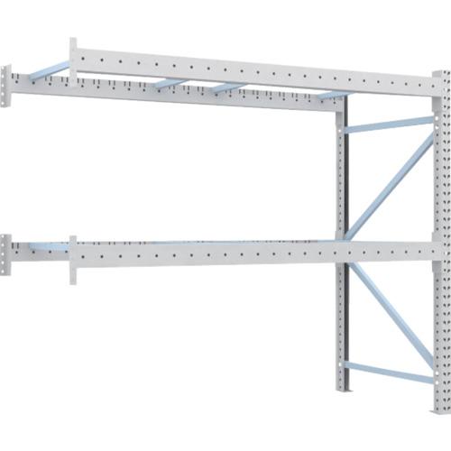 【直送】【代引不可】TRUSCO(トラスコ) 重量パレット棚 1トン用 2500X1000XH2000 連結 1D-20B25-10-2B