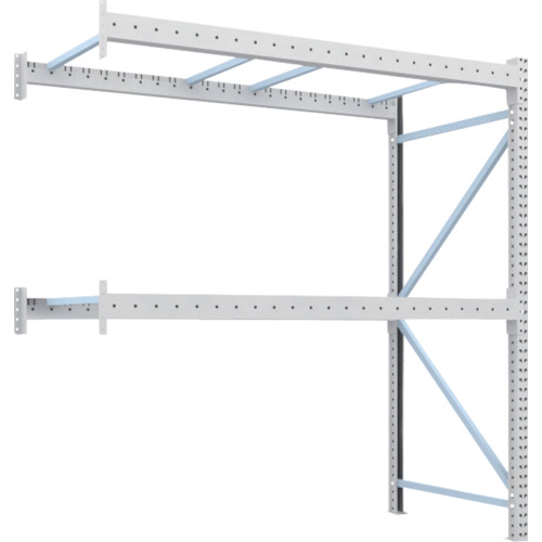 【直送】【代引不可】TRUSCO(トラスコ) 重量パレット棚 1トン用 2300X1100XH2500 連結 1D-25B23-11-2B