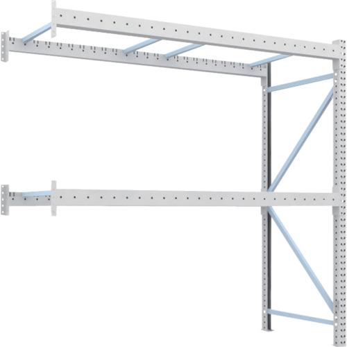 【直送】【代引不可】TRUSCO(トラスコ) 重量パレット棚 1トン用 2500X1000XH2500 連結 1D-25B25-10-2B