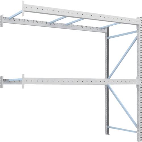 【直送】【代引不可】TRUSCO(トラスコ) 重量パレット棚 1トン用 2500X1100XH2500 連結 1D-25B25-11-2B