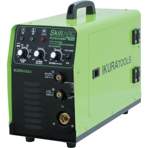 【直送】【代引不可】育良精機 100V・200V兼用 半自動溶接機 ISK-SA160W
