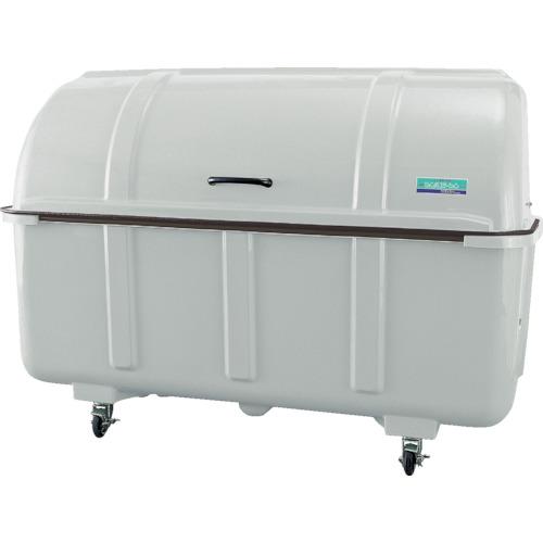 【直送】【代引不可】カイスイマレン ゴミ箱 ジャンボステーション 1500L グレー キャスター付 J1500C