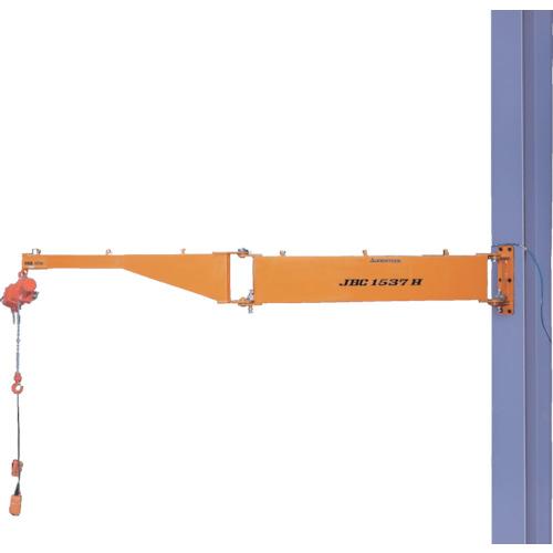 【直送】【代引不可】スーパーツール 二速型電動チェーンブロック付ジブクレーン 柱取付・シンプル型 JBCT1537H