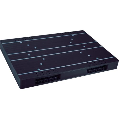 【直送】【代引不可】リス(岐阜プラスチック工業) パレット 両面二方差し 1700X1100 黒 JCK-R2-110170