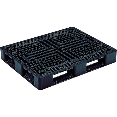 【直送】【代引不可】リス(岐阜プラスチック工業) プラスチックパレット 片面四方差 1100×900×150 黒 J-D4-1109