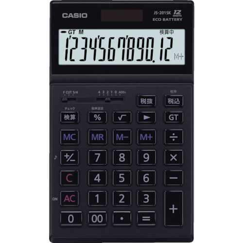 CASIO(カシオ) 本格実務電卓 JS-201SK-BK-N