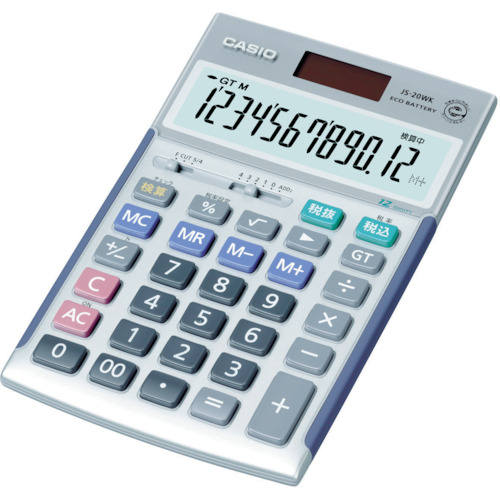 価格 CASIO 好評 カシオ JS-20WK ジャストタイプ電卓